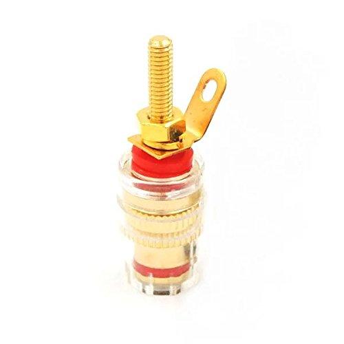 Goliton 2pcs Rame Cristallo Speaker Amplificatore audio Terminal Binding Post per spina banana 4mm adattatore Socket lungo filo