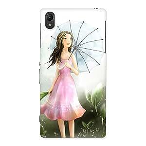 Special Umbrella Princess Multicolor Back Case Cover for Sony Xperia Z1