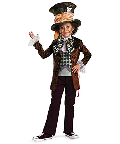Deluxe Mad Hatter Child Costume Size 10-12 Large