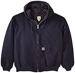 Carhartt Men\'s Big & Tall Quilted Flannel Lined Sandstone Active Jacket J130,Midnight,Large Tall