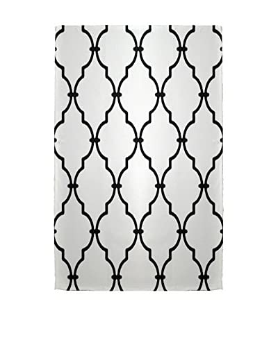 e by design Palace Rug, White/Black