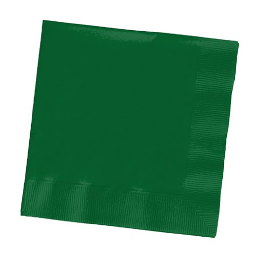 Creative Converting Paper Napkins, 3-Ply Dinner Size, Hunter Green Color, 25-Count Packages (Pack of 5)