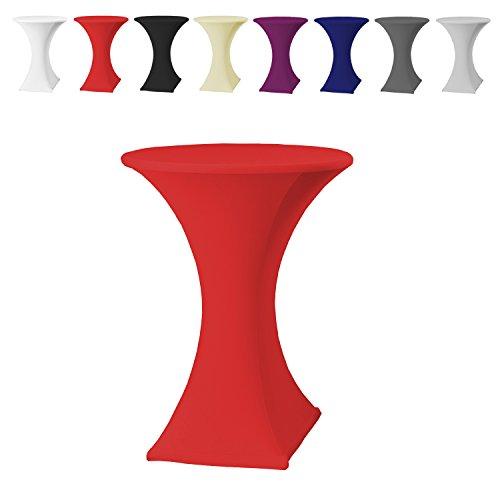Stehtischhussen-Tischhusse-Tisch-Husse-Stehtisch-Bistrotisch-Hussen-60x120cm-Rot