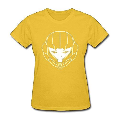 RORO Women's Metroid Samus Aran T Shirt - Nintendo Tee Shirts Yellow XX-Large