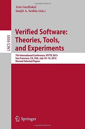verified-software-theories-tools-and-experiments-7th-international-conference-vstte-2015-san-francis