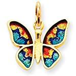 14k gold butterfly charm