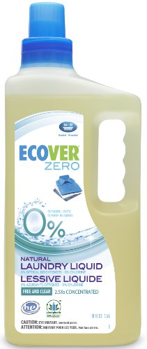 Ecover Laundry Liquid 2.5X Concentrated Zero, 51 Fluid Ounce