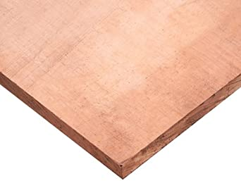 110 Copper Sheet, Unpolished (Mill) Finish, Standard Tolerance, Inch, ASTM B152