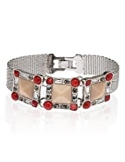 Diamanté Encrusted Square Stretch Bracelet