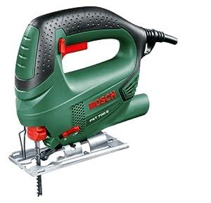 Bosch PST 700 E HomeSeries Stichsäge + 1 Sägeblatt + Koffer (500 W, max. 70 mm Schnitttiefe, Bosch Low Vibration)