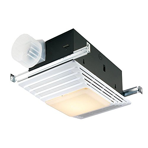 Broan heater bath fan light combination bathroom ceiling for 2 bathroom exhaust fan venting