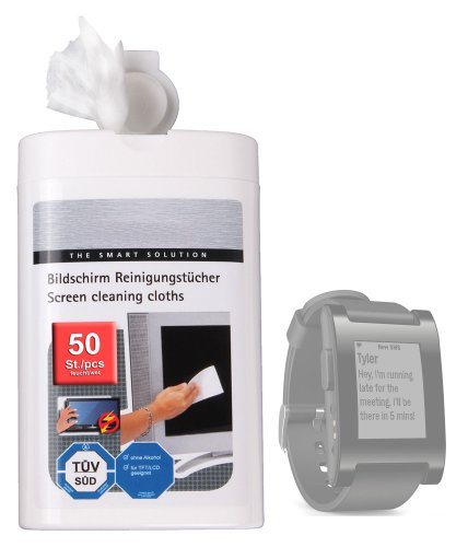 Duragadget Anti-Static Lcd Touchscreen Cleaning Cloths For Pebble & Pebble Steel Smartwatch