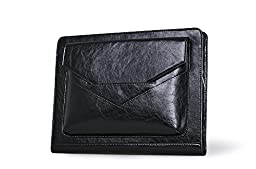 Deluxe Executive Padfolio With Pouch Pocket and Pencil Case, for Right- or Left-Handed Use