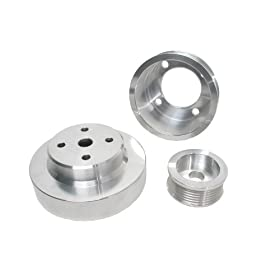 BBK 1553 Aluminum Underdrive Pulley Kit for Ford Mustang 5.0L - 3 Piece