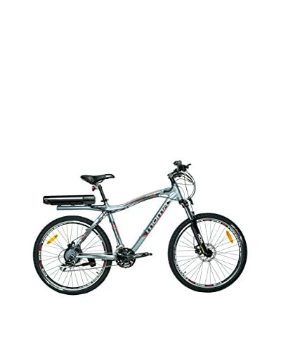 MOMA BIKES Bicicleta E-Mtb 26 Alu 7V 36V350W Lithium Gris