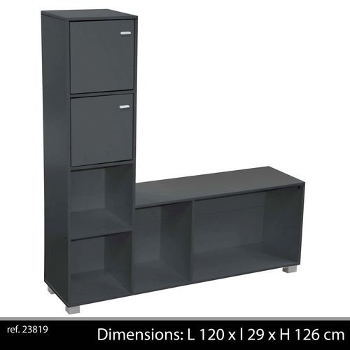 meuble cd dvd design pas cher. Black Bedroom Furniture Sets. Home Design Ideas