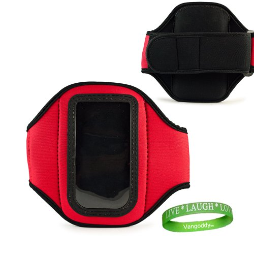 Quality Red Armband W/Sweat Resistant Lining-Extra Key Pocket; Samsung Galaxy S Blaze 4G!!