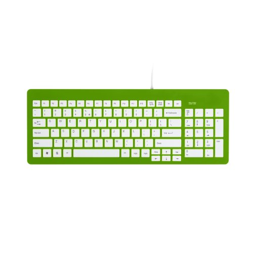 Wintec Filemate Imagine Series K2210 Usb Standard Keyboard - Light Green With White Keys (3Fmnk2210Ugn-R)