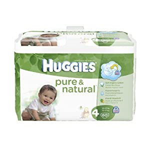 Huggies Pure & Natural Diapers, 240 Count