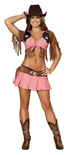 Roma Costume 2 Piece Sassy Cowgirl As Shown, Red/Blue, Small