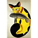 Cat with a fish in its mouth (Print On Demand)