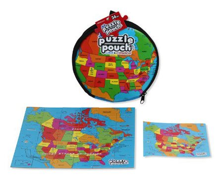 Puzzle Pouch USA/Canada - Educational Jigsaw Puzzle (36 pieces) in Portable Pouch