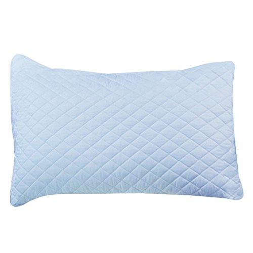 simpvale Pure Color Baumwolle Dicker werden Weich Kissenbezüge für Schlafzimmer, baumwolle, blau, 35_x_55_cm