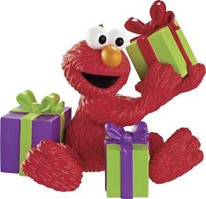 Carlton Cards Heirloom Sesame Street Elmo with Presents Christmas Ornament