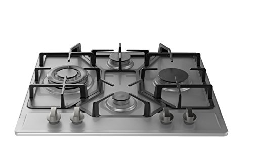 Empava HQ4B67A Stainless Steel Built-in 4 Burners Stove Gas Hob Fixed Cooktop (24 Gas Built In Oven compare prices)