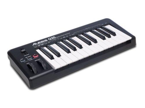 photo Alesis Q25 - Clavier Maître USB MIDI 25 Touches Dynamiques et Sensibles + Logiciels Ableton Live Lite & Ignite Inclus