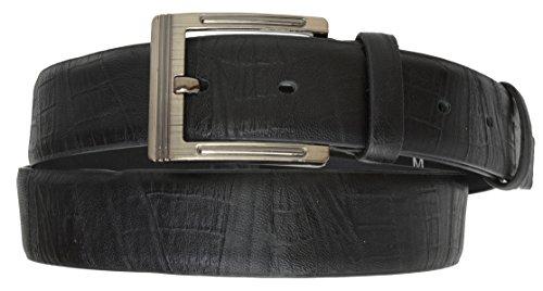 Alligator Design Black Dress Belt Classic Design Buckle By Marshal