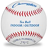 Champion Sports Indoor/Outdoor Tee Ball,White - Pack Of 12