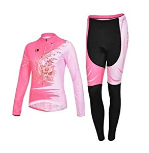Cycling-sports Speed Fitness 2013 Cyclingbox Pink Ladies Long Sleeve Riding Clothes... by Cycling-sports