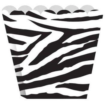 Creative Converting Treat Boxes, Zebra, 8 Per