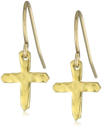 gorjana Gold Cross Over Small Earrings