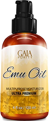 Emu Oil - Large 4oz - Best Natural Oil For Face, Skin, Hair Growth, Stretch Marks, Scars, Nails, Muscle & Joint Pain, and More