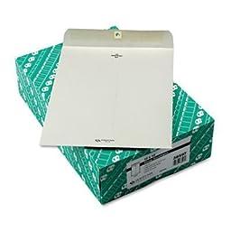 Clasp Envelope, 10 x 13, 28lb, Executive Gray, 100/Box by Quality Park??\