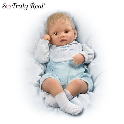So Truly Real Touch-Activated Realistic Baby Doll: Kyle Kisses Doll by Ashton Drake