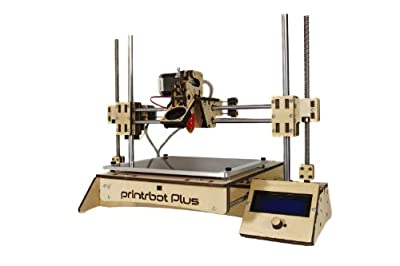 "Printrbot Assembled PLUS (v2.1) 3D Printer, ABS/PLA Filament, 1.75mm Ubis Hot End, 8"" x 8"" x 8"" Build Volume"