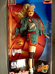 NBA National Basketball Association Seattle Sonics Barbie Doll