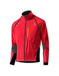 Loeffler M Bike ZIP-OFF-Jacket SAN Remo Windstopper Softshell Light - Red - 48 - Mens windproof waterrepellent...