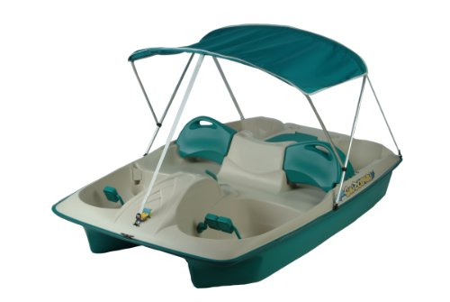 Kl Industries Sun Dolphin Sun Slider Adjustable 5 Seat Pedal Boat W Canopy