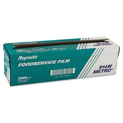 RFP 914M Metro Light-Duty PVC Film Roll w/Cutter Box, 18quot; x 2000ft, Clear