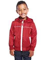 Hooded Fleece Lined Bomber Jacket with Stormwear™