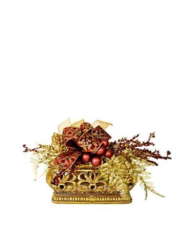 Creative Displays Holiday Arrangement, Gold/Burgundy