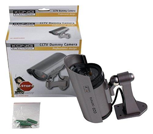 Konig sec dummycam30 telecamera finta cctv per esterno con for Telecamera amazon