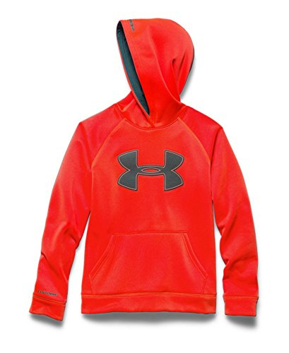 Men's Under Armour Fleece Storm Big Logo Hoody, Bolt Orange/Graphite, Large