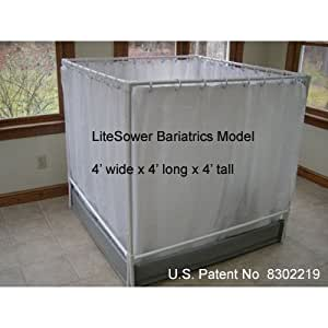 LiteShower Wheelchair Accessible Portable Shower Stall Bariatric