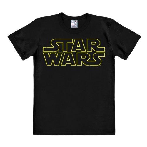 T-shirt Guerre stellari Logo - maglia Star Wars Logo - Spazio - maglietta girocollo di LOGOSHIRT - nero - design originale concesso su licenza, taglia XL