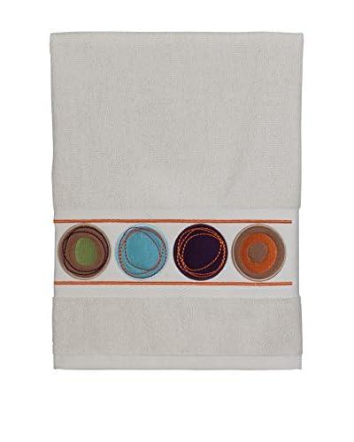 Creative Bath Dot Swirl Embroidered Hand Towel, Bright